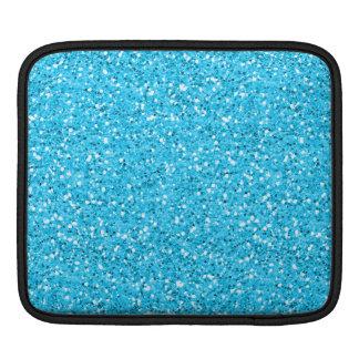 Aqua Blue Shimmer Glitter Sleeve For iPads