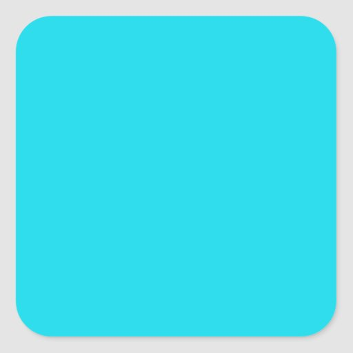 Aqua Blue Square Sticker