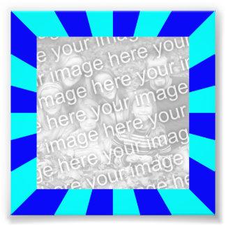 Aqua Blue Starburst Frame Photo Art Photo