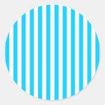 Aqua Blue Stripes Stickers