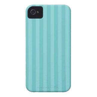 Aqua blue stripes striped stripe pattern iPhone 4 Case-Mate case