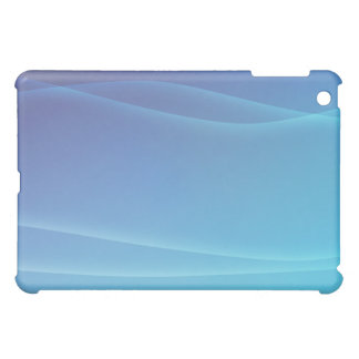 AQUA & BLUE SWIRLS by SHARON SHARPE iPad Mini Case