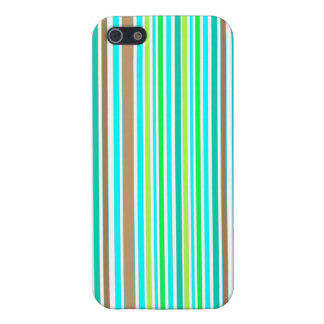 Aqua Blue Teal And Green Striped Modern Pattern iPhone SE/5/5s Case
