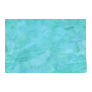 Aqua Blue Teal Watercolor Texture Pattern Placemat