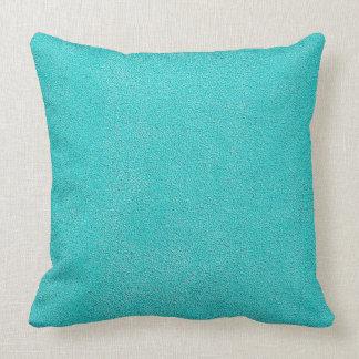 Aqua Blue Ultrasuede Look Throw Pillow
