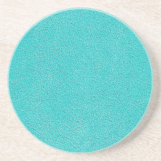 Aqua Blue Ultrasuede Look Sandstone Coaster