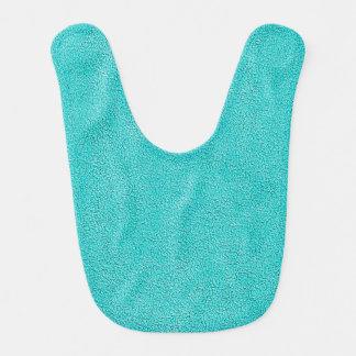 Aqua Blue Ultrasuede Look Bibs