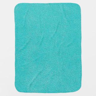 Aqua Blue Ultrasuede Look Stroller Blanket