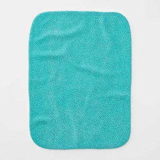 Aqua Blue Ultrasuede Look Burp Cloths