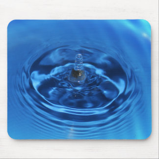 Aqua Blue Water Drop Mousepad
