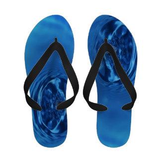 Aqua Blue Water Drop Sandals Flip Flops