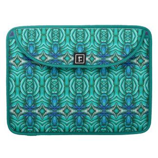 aqua blue water ripple jewel MacBook Sleeve Case
