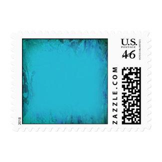 Aqua Blue Watercolor Abstract Stamps