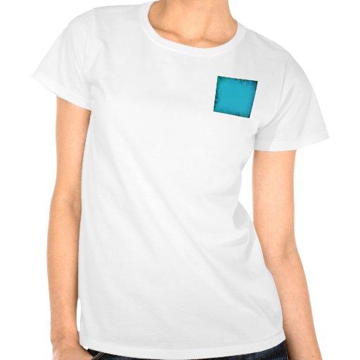 Aqua Blue Watercolor Abstract Shirts