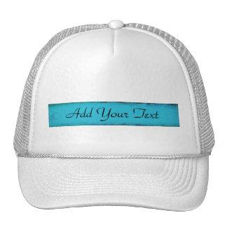 Aqua Blue Watercolor Abstract Trucker Hat