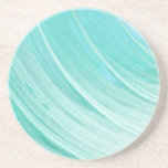 "Aqua Blue Watercolor Pattern Drink Coaster<br><div class=""desc"">Modern design,  in aqua blue watercolor abstract pattern. Perfect gift for yourself,  your loved one,  and those looking for something minimal,  cool and unique.</div>"