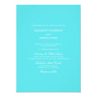 Aqua Blue Wedding Card