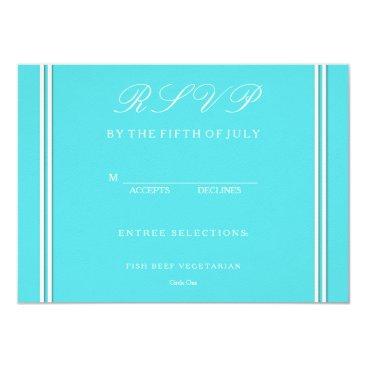Beach Themed Aqua Blue Wedding Card
