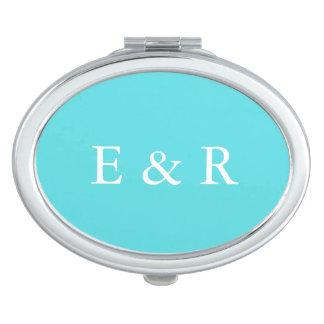 Aqua Blue Wedding Compact Mirror