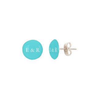 Aqua Blue Wedding Earrings