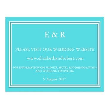 Beach Themed Aqua Blue Wedding Postcard
