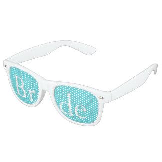 Aqua Blue Wedding Retro Sunglasses
