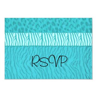 Aqua Blue Wedding RSVP Card