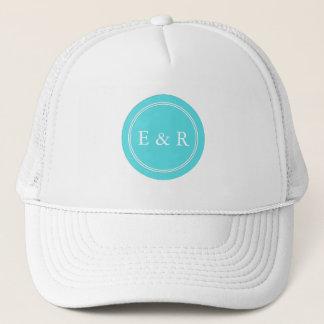 Aqua Blue Wedding Trucker Hat