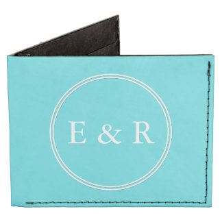 Aqua Blue Wedding Tyvek Wallet