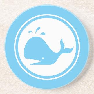 Aqua Blue Whale Marine Creature coaster
