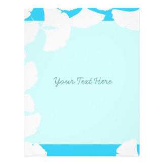 Aqua Blue White Ginkgo Leaf Flyer