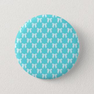 Aqua Blue With White Wedding Bow Button