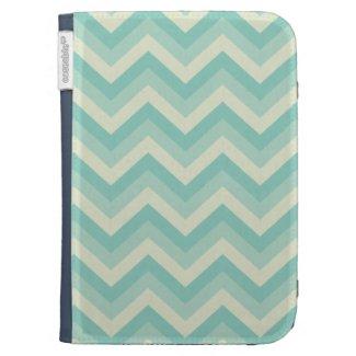 Aqua Blue Zigzag Kindle Cover