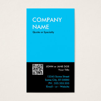 aqua bold design your own QR code Business Card