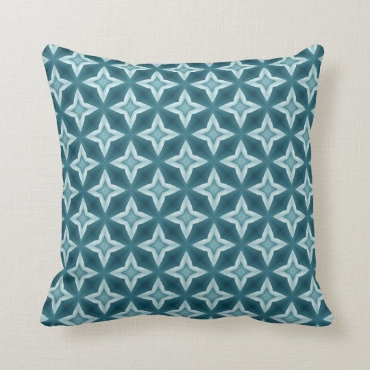 Aqua Bold Geometric Design - Style A010 Throw Pillow