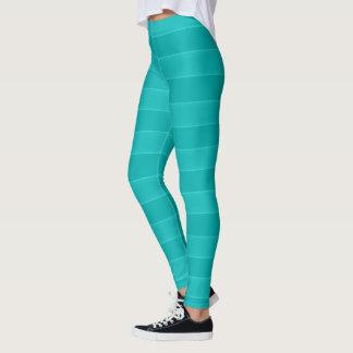 Aqua Bold Striped Leggings