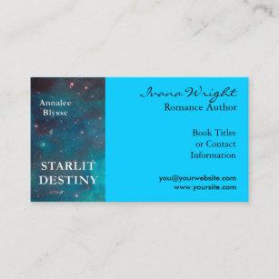 aqua book cover author business card - Author Business Cards