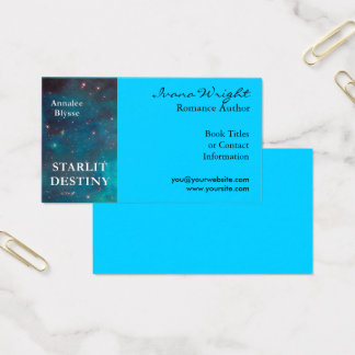 Aqua Book Cover Author Business Card