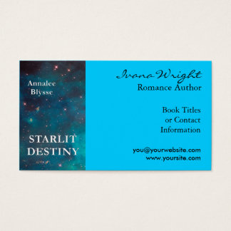 Aqua Book Cover Author Business Card