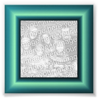 Aqua Border Photo Print