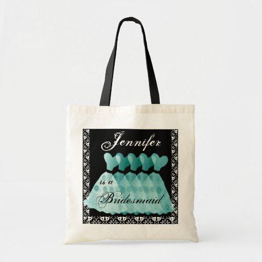 Aqua  Bridesmaid Dresses Tote Bag