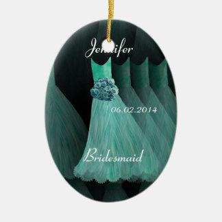 AQUA Bridesmaid Thank You Wedding Ornament