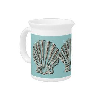 Aqua brown beach pitcher