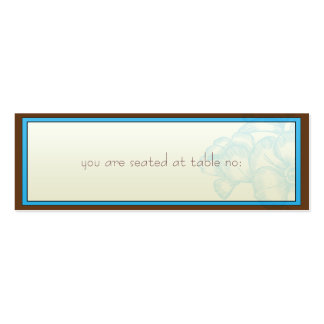 Aqua Brown Place Cards Business Card Template