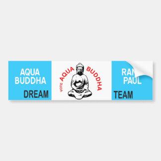 Aqua Buddha Bumper Sticker Car Bumper Sticker