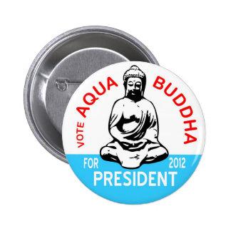 Aqua Buddha Button