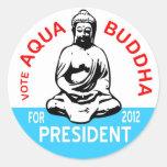 Aqua Buddha Sticker