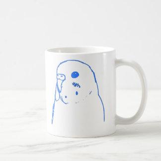Aqua Budgie Portrait Coffee Mug