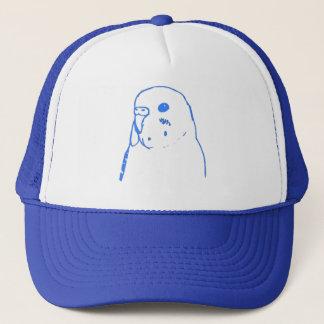 Aqua Budgie Portrait Trucker Hat