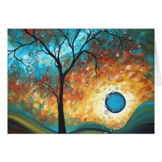Aqua Burn Art MADART Original Painting Note Card